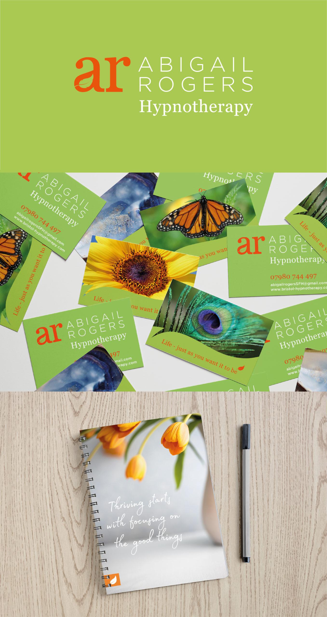 Abigail Rogers, branding for a Hypnotherapist. Portfolio image