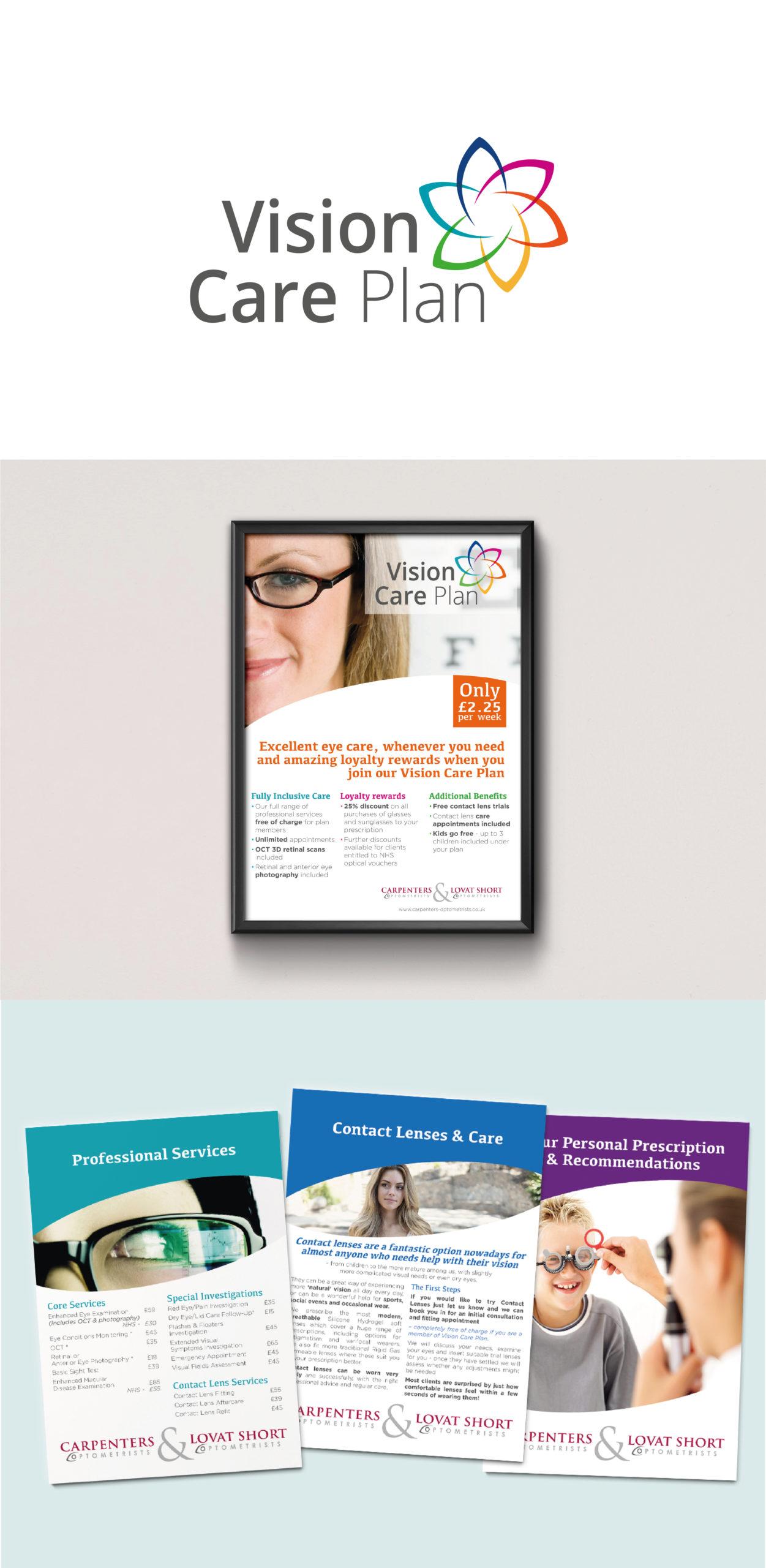 Branding for Opticians, near Bath. Portfolio