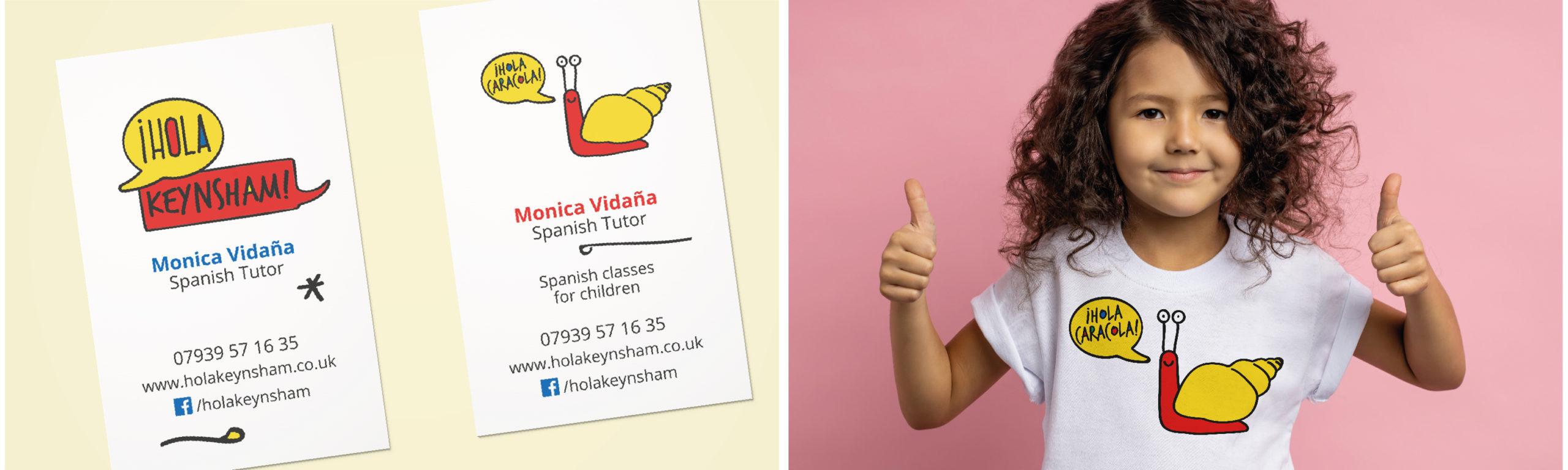 Hola Kaynsham, branding for a Spanish school
